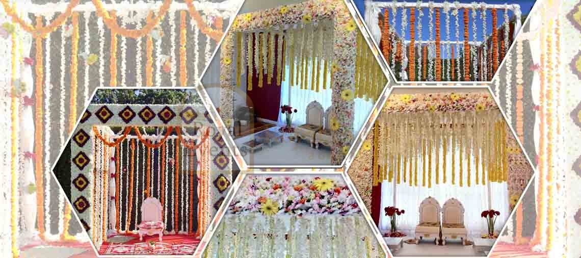 Indian wedding mandaps melbourne stage decor party hire fresh flower mandaps from royal events junglespirit Image collections