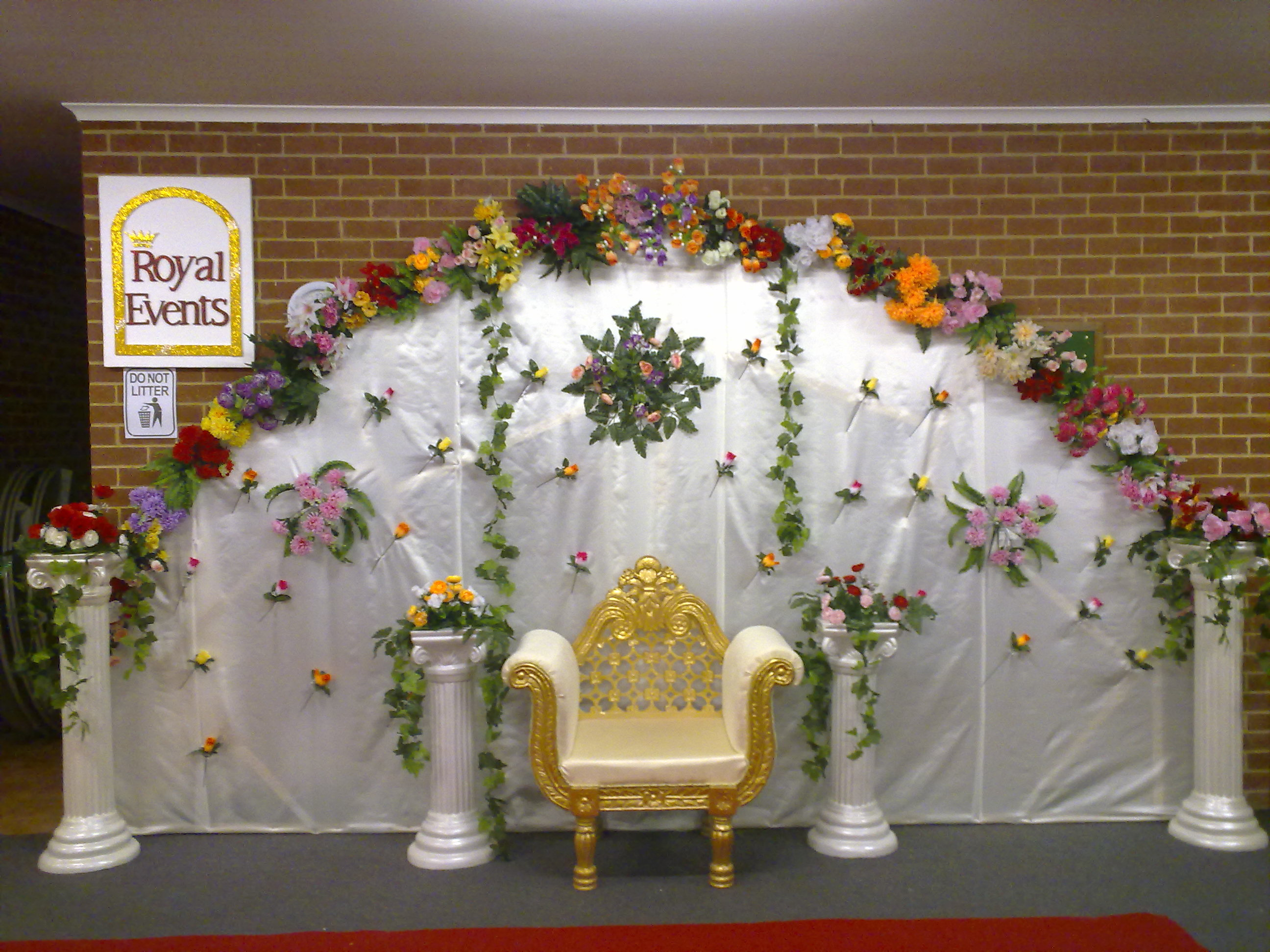 Stage decor melbourne wedding decorations royal events stage decor junglespirit Choice Image
